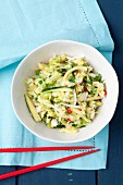 Chinese cabbage salad with cucumber and coriander