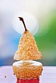 Gefüllte Birne mit Roquefort