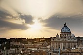 View of St Peter's Cathedral, Vatican, Rome