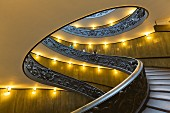 A spiral staircase in the Vatican Museum, Vatican, Rome