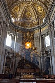 The light falling into the apse in St Peter's Cathedral, Vatican, Rome