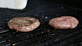 Hamburgers being grilled