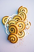 Shortcrust spiral biscuits