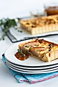 Pear and feta tart with thyme