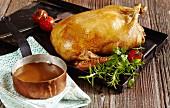 Roast duck with gravy