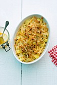 Swiss Älpermagronen (pasta bake potatoes and onions)
