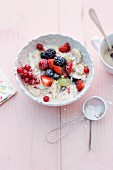 Bircher muesli with icing sugar