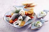 Bismarck herring with fried potatoes