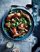Black beer chicken with ginger, garlic and soy sauce