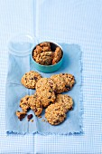 Oat cookies with cranberries and nuts