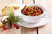 Pork goulash with cranberries