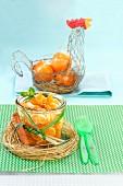 Mandarin salad with mint