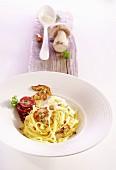 Fettuccine with porcini mushrooms