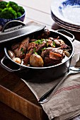 Duck stew with vegetables