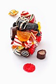 Various sweets stuck together