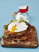 Rosti with poached eggs