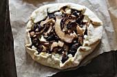 Mixed mushroom galette