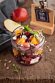 Beetroot salad with oranges and apples