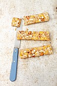 Muesli bars with hazelnuts, oats and cornflakes