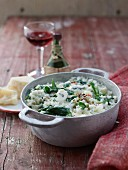 Spinach and gorgonzola risotto