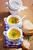 Turnip soup with carrots