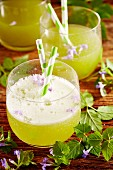 Herb lemonade with ground ivy