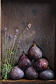 Fresh figs and lavender