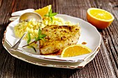 Swordfish with orange couscous