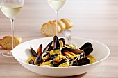 Luxembourg style mussels