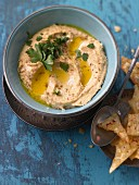 Hummus (seen from above)