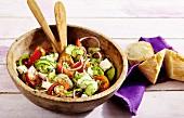 Schopska salad (Bulgarian farmer's salad)