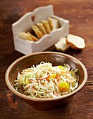Australian coleslaw with cherry tomatoes