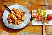 Ensalada de jitomate con chiles – tomato salad with chilli from Mexico