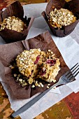 Raspberry muffins with oats