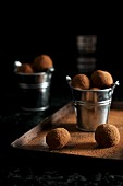 Chocolate truffles rolled in cocoa powder