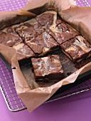 Marbled chocolate tray bake cake