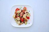 Bread salad with capers and tomatoes