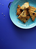 Flapjacks with oats and dried cranberries