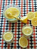 Homemade lemon mousse