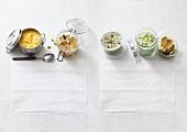 Four quick soups (low carb)