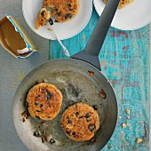 Walnut and olive fritters with couscous