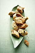 Ginger cantuccini with pistachios