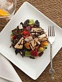 Tofu salad with vegetables
