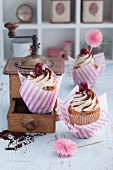 Cherry cupcakes à la tiramisu