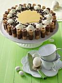 Eggnog cream cake