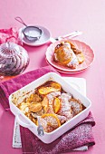 Orange caramel croissant pudding