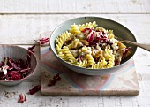 Quick radicchio pasta with gorgonzola