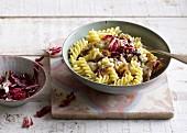 Quick radicchio pasta with gorgonzola