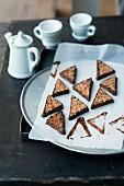 Traditional nut corners with chocolate glaze