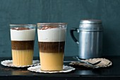 Coffee advocat with eggnog